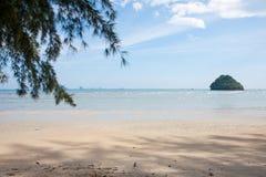 Seascape na praia Imagem de Stock Royalty Free