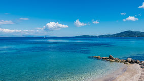 Seascape near Agios Ioannis Peristeron, Corfu. Stock Photo