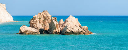 Seascape near Aphrodite's rock. Cyprus Stock Images