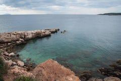 Seascape near Athens Royalty Free Stock Photos