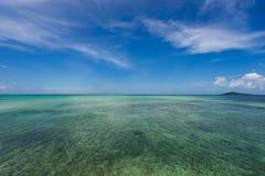 Seascape near the Ikema Bridge Royalty Free Stock Image