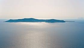 Seascape near the island of Santorini Stock Images