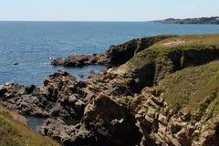 Seascape near Le Pouldu, Brittany, France Stock Images