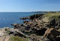 Seascape near Le Pouldu, Brittany, France Royalty Free Stock Photos