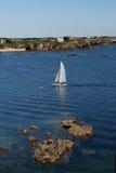 Seascape near Le Pouldu, Brittany, France Royalty Free Stock Photography