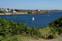 Seascape near Le Pouldu, Brittany, France Royalty Free Stock Image