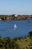 Seascape near Le Pouldu, Brittany, France Stock Photo
