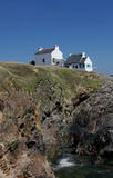 Seascape near Le Pouldu, Brittany, France Royalty Free Stock Photo