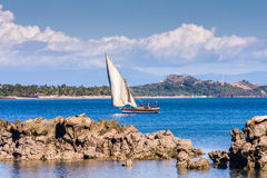 Seascape near Nosy Be island Royalty Free Stock Photography