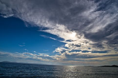 Seascape near small greek village Toroni after summer storm in Sithonia Stock Photo