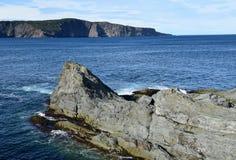 Seascape near Torbay Bight, NL Canada. Landscape along the Killick Coast, seascape near Torbay Bight, Avalon Peninsula, NL Canada stock image