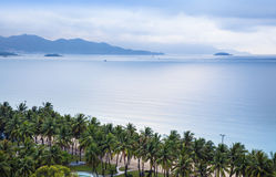 Seascape Nha Trang, Вьетнам. Стоковая Фотография RF