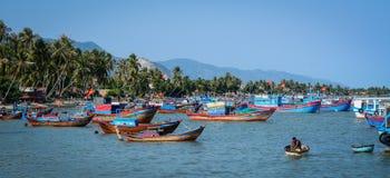 Seascape of Nha Trang, Vietnam. Nha Trang, Vietnam - Mar 21, 2016. Fishing pier in Nha Trang, Vietnam. Nha Trang is a coastal city and capital of Khanh Hoa, on stock image