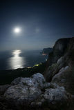 Seascape at night. Stock Photography