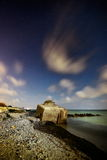 Seascape by night Stock Image