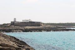 Seascape no console de Formentera Imagem de Stock