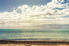 Seascape no del segura de Guardamar Espanha de Alicante Imagens de Stock