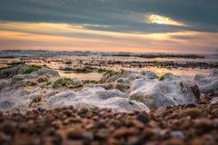 Seascape no sul de Inglaterra, praia de Rottingdean Foto de Stock