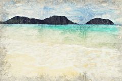 Seascape Ocean, Thailand. Digital Art Impasto Oil Painting by Ph. Otographer royalty free stock images