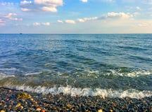 Seascape och Pebble Beach Royaltyfria Foton