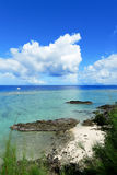 Seascape in okinawa japan Royalty Free Stock Photos