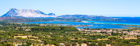 Seascape of the Oriental coast of Sardinia, Italy Royalty Free Stock Images