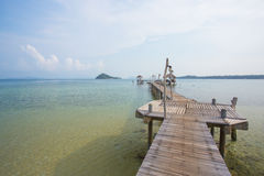Seascape. over-water bungalow Royalty Free Stock Photos