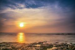 Seascape på goaen arkivfoton