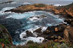 Seascape på punkt Lobos Kalifornien Arkivbilder