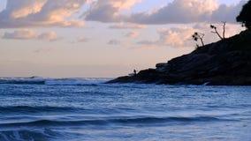 Seascape på soluppgången Royaltyfri Fotografi
