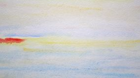 Seascape painting. Abstract art background. stock video footage