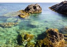 Seascape Palo De Cabos wybrzeże, Hiszpania Fotografia Royalty Free