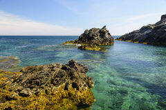 Seascape Palo De Cabos wybrzeże, Hiszpania Zdjęcie Stock