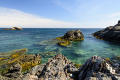 Seascape Palo De Cabos wybrzeże, Hiszpania Obrazy Stock