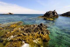 Seascape Palo De Cabos wybrzeże, Hiszpania Zdjęcia Royalty Free
