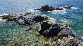 Seascape Palo De Cabos wybrzeże, Hiszpania Obraz Stock