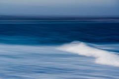 Seascape panorâmico no por do sol Fotografia de Stock Royalty Free
