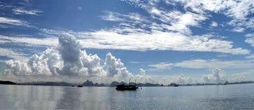 Seascape panorama Stock Photo