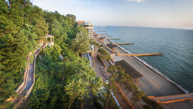 Seascape panorama in Sochi, Russia Royalty Free Stock Photo