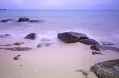 Seascape Pastel no alvorecer Fotos de Stock Royalty Free