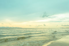 Seascape with pastel tone at twilight time Stock Images