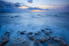 Seascape of pattaya beach at sunset, Chonburi, Thailand Royalty Free Stock Photography