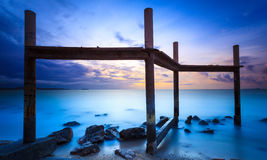 Seascape of pattaya beach at sunset, Chonburi, Thailand Stock Images