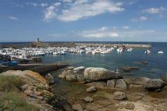 Seascape perto de Pointe de Trevignon Fotografia de Stock Royalty Free