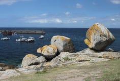Seascape perto de Pointe de Trevignon Imagens de Stock