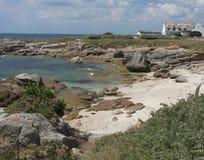 Seascape perto de Pointe de Trevignon Fotos de Stock Royalty Free