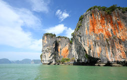 Seascape Phangnga bay Thailand Stock Photo