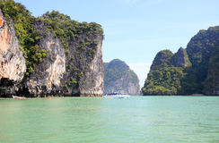 Seascape Phangnga bay Thailand Stock Image