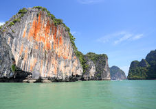 Seascape Phangnga bay Thailand Stock Photos