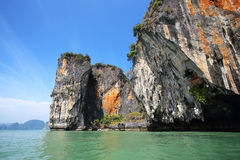 Seascape Phangnga bay Thailand Royalty Free Stock Images